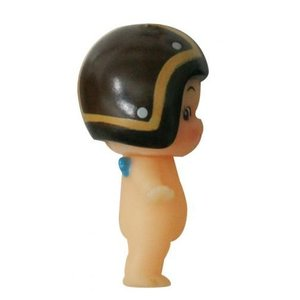 DAMMTRAX(ダムトラックス) キューピー× ヘルメット着用 キューピーちゃん キーホルダー JET-J ブラウン/ゴールド|horidashi