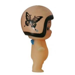 DAMMTRAX(ダムトラックス) キューピー× ヘルメット着用 キューピーちゃん キーホルダー ニューチアバタフライ ブラウン|horidashi