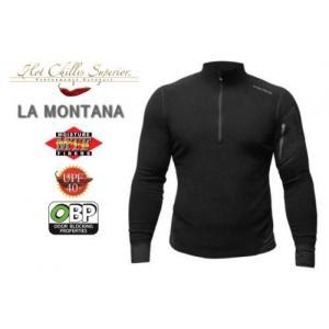 セール特価 レビューで特典 HOT CHILLYS ラ モンタナ 極寒地仕様のベースレイヤー ジップアップシャツ メンズ ブラック HC4033 ホットチリーズ|horidashi