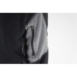 セール特価 レビューで特典 HOT CHILLYS ラ モンタナ 極寒地仕様のベースレイヤー ジップアップシャツ メンズ ブラック HC4033 ホットチリーズ|horidashi|03