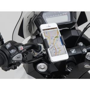 | おすすめポイント 工具なしで簡単にクランプの脱着ができます。 バイク専用設計の左右首振り機能と、...