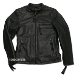 DEGNER デグナー レザー ジャケット 7WJ-12A ブラック/2XLサイズ