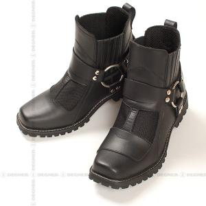 DEGNER デグナー クール メッシュ リング ブーツ HS-B1A ブラック/Mサイズ