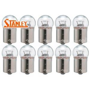 STANLEY スタンレー ライセンスランプ パーキングランプ ストップランプ クリア シングル球 10個入り 24V6W G18 純正リペア用(A4185B)|horidashi