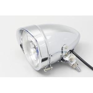 レビューで送料¥390 6ヶ月保証付 ヘッドライト 4.5インチ ベーツライト ロングタイプ マルチリフレクターライト メッキ|horidashi