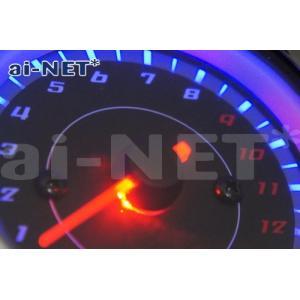 タコメーター 電気式タコメーター ブラックパネル LEDバックライト 13,000rpm aiNET/アイネット製 汎用|horidashi|02