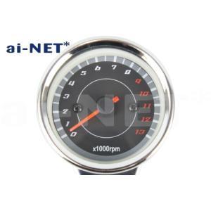 タコメーター 電気式タコメーター ブラックパネル LEDバックライト 13,000rpm aiNET/アイネット製 汎用|horidashi|03