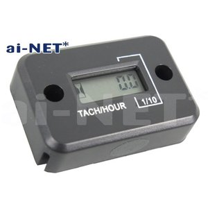 レビューで送料¥390 aiNET製 デジタルタコメーター/アワーメーター 電気式 防水 6ヶ月保証|horidashi