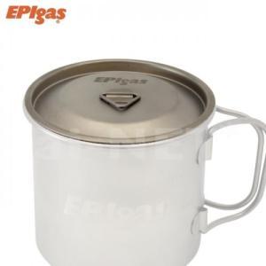 EPIgas シングルチタンマグカバー(T-8113) マグカップカバー 保冷 鍋蓋(コーヒカップ チタンカップ チタンマグカップ スノーピーク チタンシングルマグ450対応)|horidashi