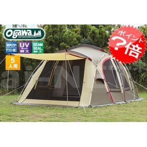 送料無料 小川キャンパル/キャンパルジャパン シュナーベル5 ロッジドーム型テント 2773|horidashi