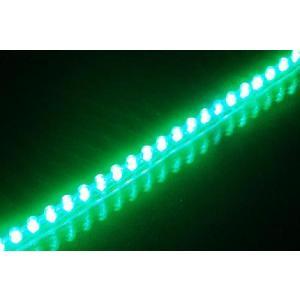 LEDチューブ 48個 48cm グリーン 緑(PCX125 シグナスX NMAX アクシストリート アドレスV125 マジェスティ マグザム スカイウェイブ フォルツァ)|horidashi