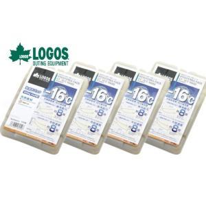 お買い得4個セット LOGOS/ロゴス 氷点下パックGT-16℃・ハード600g 81660612 保冷剤 冷凍保存 長時間 最強|horidashi