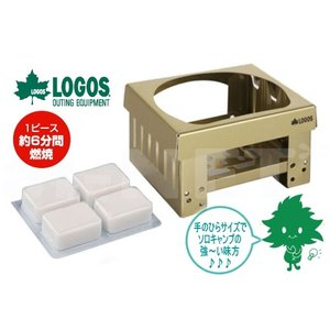 【完売】LOGOS/ロゴス ポケットタブレットコンロセット(83010100) 着火剤付き 携帯用コンロ|horidashi