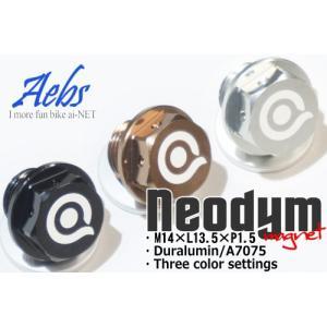 送料無料 aiNET ヤマハ系 Neodym ネオジム ドレンボルト 超々ジュラルミン(アルミドレンボルト マグネットドレンボルト M14×L18×P1.5)強力マグネット 1年保証|horidashi