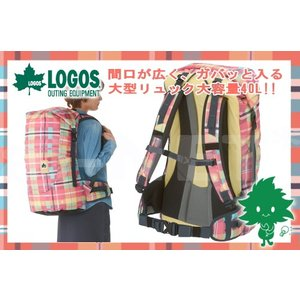 送料無料 LOGOS/ロゴス CADVEL-Design ダッフルリュック40(AE・check)チェック柄(88250165)女性用 リュックサック(ハイキング 遠足 キャンプ)|horidashi