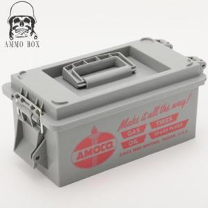 SHO ENTERPRISE U.S.AMMO BOX/U.S.アンモボックス(AMOCO-アモコオイル)道具箱 ツールボックス 弾薬箱(キャンプ アウトドア フィッシング 道具入れ 工具入れ)|horidashi
