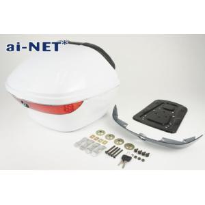 3ヶ月保証付 リアボックス トップケース 28L LEAD[リード]125 リアボックス アタッチメント付 汎用品 ホワイト 白