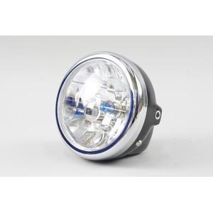 レビューで送料¥390 6ヶ月保証付 ヘッドライト ブラックボディ クリアレンズ ミニ用 12V マルチリフレクターライト|horidashi