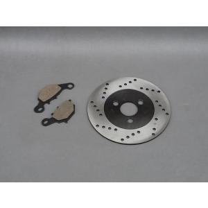 セール特価 保証付 アドレスV125 アドレスV100 レッツ2S 純正タイプ ブレーキパッド + ブレーキディスクローター セット|horidashi