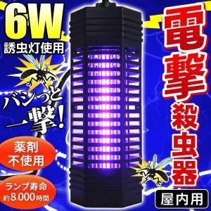 ★6W誘虫灯を搭載してパワーアップ!従来品より有効範囲が広がりました★  バシっと瞬間殺虫!小バエ・...