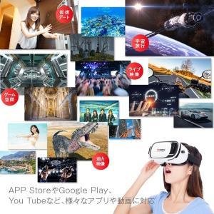 バーチャル・リアリティ VRゴーグル 3D動画 ストレスフリー装着感 コードレス スマホをセットするだけでVRの世界へ360度 ゲーム・映像を立体視! 〓 VR-BOX|horidashiichiba|03