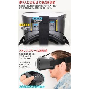 バーチャル・リアリティ VRゴーグル 3D動画 ストレスフリー装着感 コードレス スマホをセットするだけでVRの世界へ360度 ゲーム・映像を立体視! 〓 VR-BOX|horidashiichiba|05