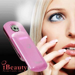 ハンディミスト iBeauty/アイビューティー ポータブル美顔器 専用化粧水ケース付き×|horidashiichiba