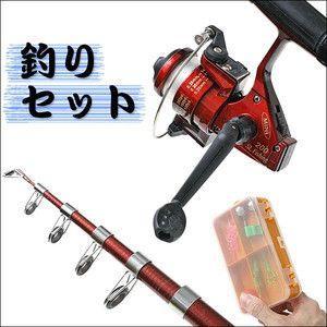 釣竿 セット 初心者 種類 リール 豪華21点  釣り 竿 糸  仕掛  釣り道具  キャリングケース付き  釣り竿セット 安い|horidashiichiba