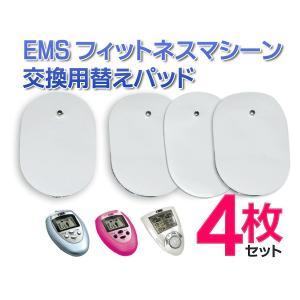 【お得な合計4枚セット】EMSフィットネスマシーン対応 交換用替えパッド(2枚入り×2) 本体と同梱発送&何枚買っても送料一緒♪ 最安 〓 EMS 替えパット 4枚|horidashiichiba