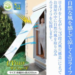 日よけスクリーン ( ベランダ用日よけ ブラインド オーニング ) 90×200cm UVカット 3段式風穴構造  UV日よけサンシェードβ|horidashiichiba