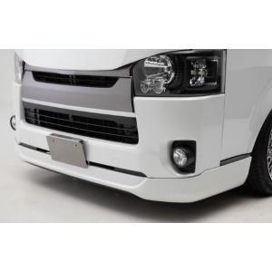 ハイエース レジアスエース 200系 4型 標準 ナロー フロントリップスポイラー Ver.IV バージョン4 未塗装 CRS ESSEX エセックス シーアールエス es-1118|horidashimono