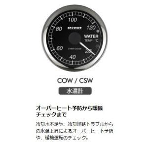 PIVOT ピボット サイバーゲージ 汎用 水温計 品番 COW horidashimono
