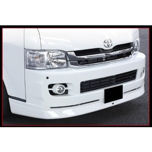BEECAS ハイエース 200系 1 2型 ワイド車 フロントスポイラー  ビーキャス K-BREAK ケイブレイク|horidashimono