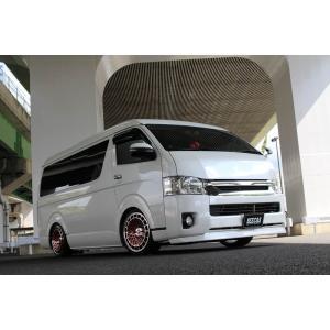 BEECAS ハイエース 200系 4型 ワイド車 フロントスポイラー  ビーキャス K-BREAK ケイブレイク|horidashimono