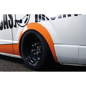 BEECAS ハイエース 200系  標準 ワイド アーチ下げ オーバーフェンダー ver3 BEECAS RACING ビーキャスレーシング K-BREAK ケイブレイク|horidashimono