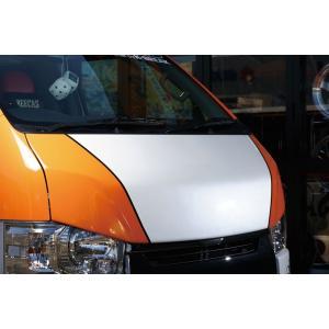 BEECAS ハイエース 200系  標準 ナロー バッドフェイスボンネット  BEECAS RACING ビーキャスレーシング K-BREAK ケイブレイク|horidashimono