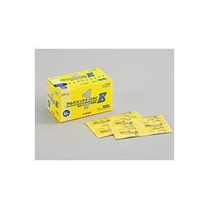 手指・皮膚の消毒に便利な、脱脂綿タイプの単包エタノール80%含浸綿。  ●100包入りはコンパクトサ...