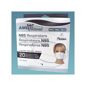 ≪在庫一掃セール≫MEDICOM(メディコム) N95マスク ダックビルタイプ≪個別包装≫【AM42-2320-20】20枚入り<新型インフルエンザ・ノロウイルス対策>|horie-ph