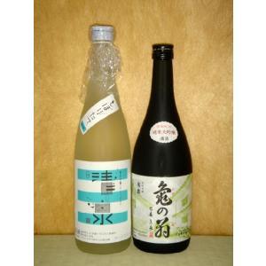 清泉 純米吟醸しぼりたて 亀の翁 純米大吟醸  720ml 2本セット 新潟県 信越 日本酒 要冷蔵|horie-saketen