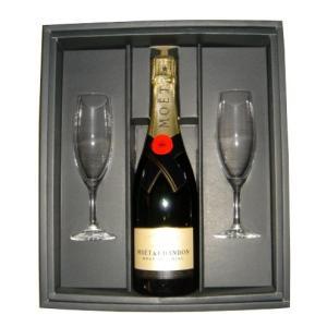 Moet&Chandon モエ・エ・シャンドン ブリュット アンペリアル 750ml グラス2個箱入 『シャンパン』『贈り物に』|horie-saketen
