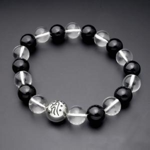 守護梵字・数珠ブレスレット・水晶+オニキス|horigin-store