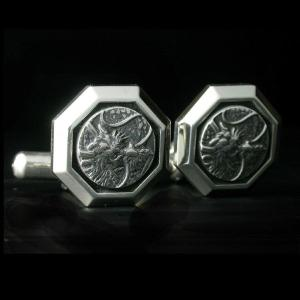 龍紋カフリンクス(カフス)・シルバーエンブレム|horigin-store