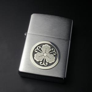 大判・家紋ZIPPOシルバーエンブレム・松コース|horigin-store