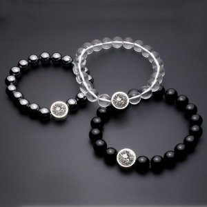 龍紋数珠ブレス【水晶】【オニキス】|horigin-store