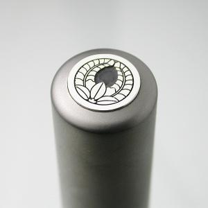 家紋入りチタン印鑑(個人実印・16.5mm)シルバーエンブレム・竹コース|horigin-store