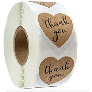 シール ハート ステッカー ラベル サンクス thankyou 大容量 500枚 W-A(thank you(W-A))|ホリック PayPayモール店