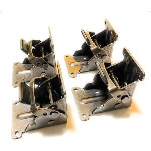 折れ脚金具 折りたたみテーブル用脚 DIY 4枚セット 黒