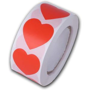 ヒロワールドトレード ハートシール ロールタイプ バレンタイン ホワイトデー ハート型 ギフトシール ラッピング(オレンジ)|ホリック PayPayモール店