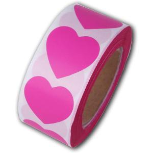 ヒロワールドトレード ハートシール ロールタイプ バレンタイン ホワイトデー ハート型 ギフトシール ラッピング(濃ピンク)|ホリック PayPayモール店