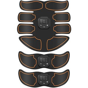 2020モデル腹筋ベルト EMS USB充電式 腹筋トレーニング 腹筋マシーン 筋トレ器具 ダイエット器具 MDM(オレンジ, オレンジ)|horikku